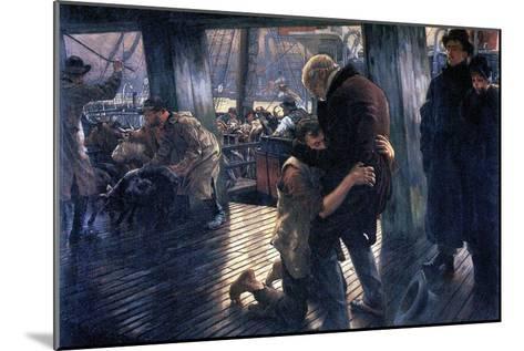 The Prodigal Son in Modern Life - the Return-James Tissot-Mounted Art Print
