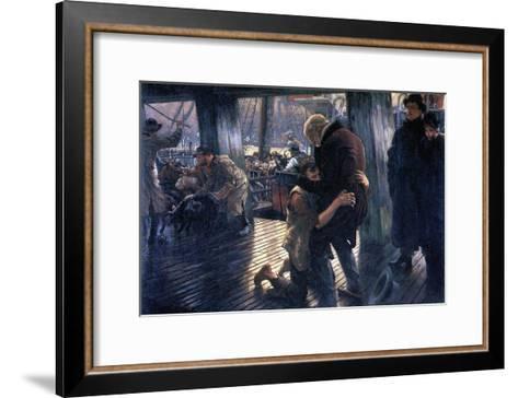 The Prodigal Son in Modern Life - the Return-James Tissot-Framed Art Print