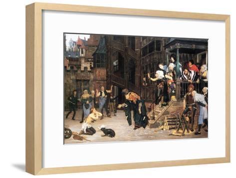 The Return of the Prodigal Son-James Tissot-Framed Art Print