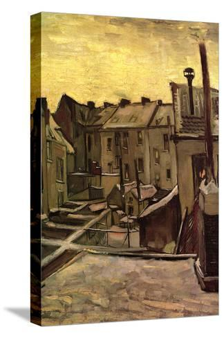 Backyards of Old Houses in Antwerp in the Snow-Vincent van Gogh-Stretched Canvas Print