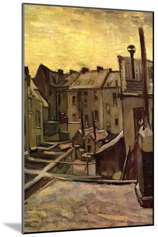 Backyards of Old Houses in Antwerp in the Snow-Vincent van Gogh-Mounted Art Print