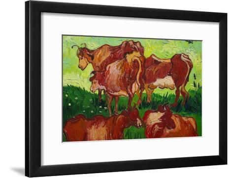Les Vaches by Van Gogh-Vincent van Gogh-Framed Art Print