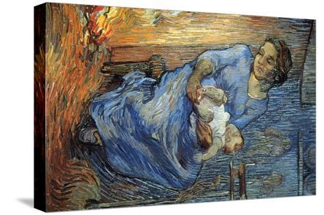 Rake-Vincent van Gogh-Stretched Canvas Print