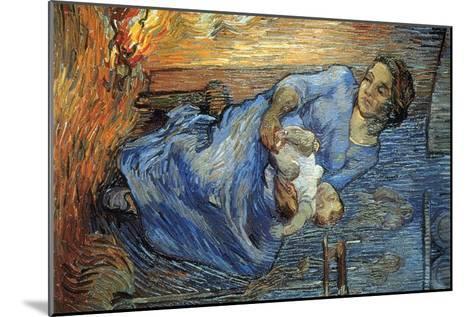 Rake-Vincent van Gogh-Mounted Art Print