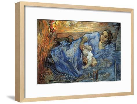 Rake-Vincent van Gogh-Framed Art Print