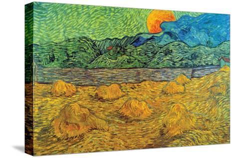 Rising Moon-Vincent van Gogh-Stretched Canvas Print