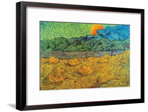 Rising Moon-Vincent van Gogh-Framed Art Print
