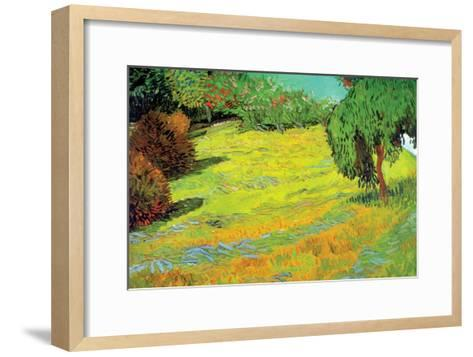 Sunny Lawn-Vincent van Gogh-Framed Art Print