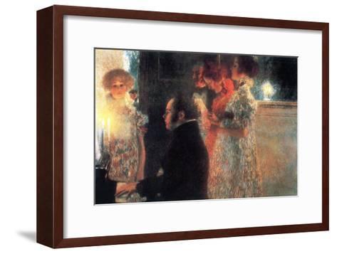 Schubert at the Piano-Gustav Klimt-Framed Art Print