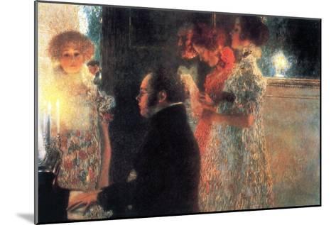 Schubert at the Piano-Gustav Klimt-Mounted Art Print