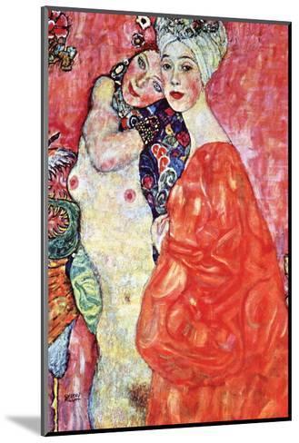 The Girlfriends-Gustav Klimt-Mounted Art Print