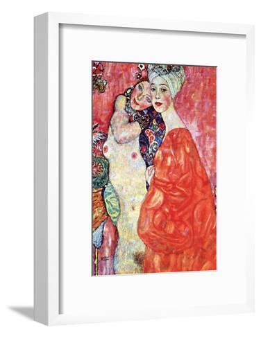 The Girlfriends-Gustav Klimt-Framed Art Print