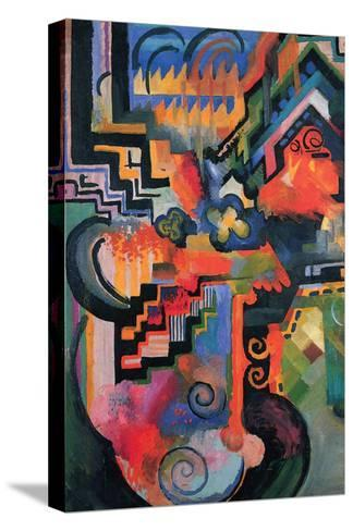 Colored Composition (Homage À Sebastian Johann Bach)-Auguste Macke-Stretched Canvas Print