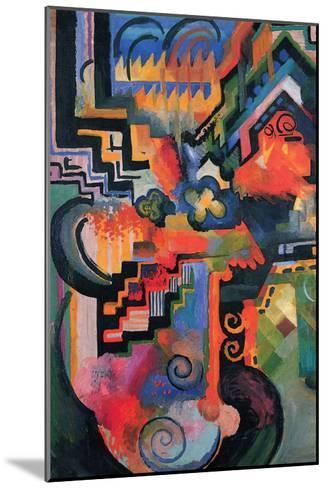Colored Composition (Homage À Sebastian Johann Bach)-Auguste Macke-Mounted Art Print