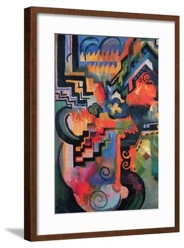 Colored Composition (Homage À Sebastian Johann Bach)-Auguste Macke-Framed Art Print