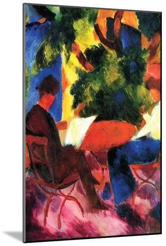 Couple at the Garden Table-Auguste Macke-Mounted Art Print