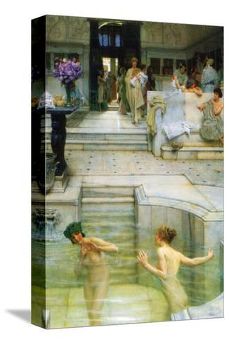 A Favorite Tradition-Sir Lawrence Alma-Tadema-Stretched Canvas Print