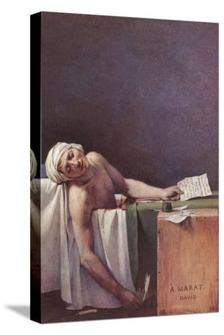 The Murdered Marat-Jacques-Louis David-Stretched Canvas Print