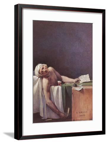 The Murdered Marat-Jacques-Louis David-Framed Art Print