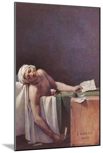 The Murdered Marat-Jacques-Louis David-Mounted Art Print