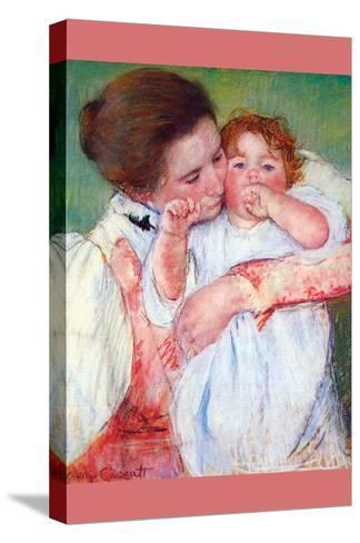 Anne Klein, from the Mother Embraces-Mary Cassatt-Stretched Canvas Print