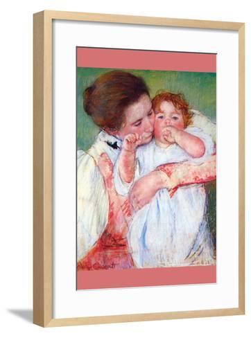 Anne Klein, from the Mother Embraces-Mary Cassatt-Framed Art Print