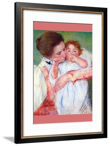 Anne Klein, from the Mother Embraces-Mary Cassatt-Framed Art Print