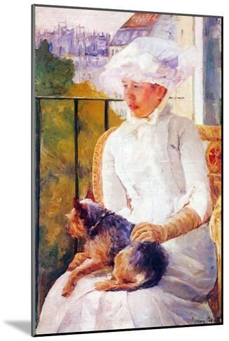 Lady with Dog-Mary Cassatt-Mounted Art Print