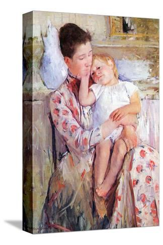 Mother and Child-Mary Cassatt-Stretched Canvas Print