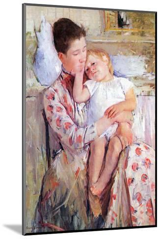 Mother and Child-Mary Cassatt-Mounted Art Print