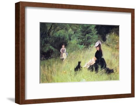 In the Meadow-Berthe Morisot-Framed Art Print