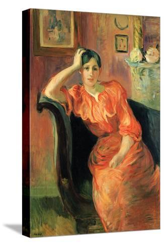 Portrait of Jeanne Pontillon-Berthe Morisot-Stretched Canvas Print