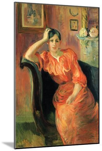 Portrait of Jeanne Pontillon-Berthe Morisot-Mounted Art Print