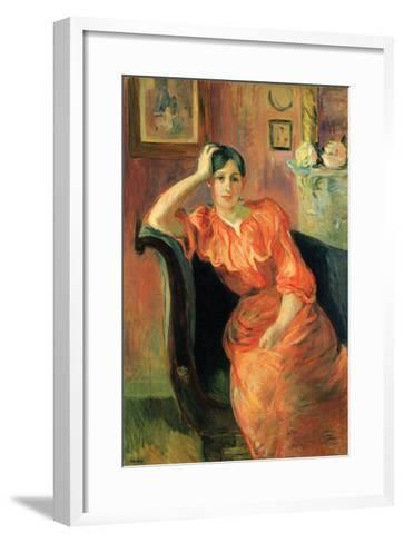 Portrait of Jeanne Pontillon-Berthe Morisot-Framed Art Print