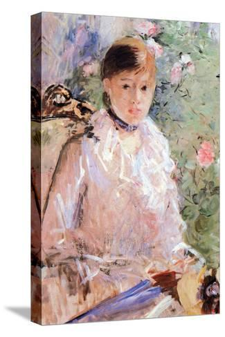 Summer (Young Woman at the Window)-Berthe Morisot-Stretched Canvas Print