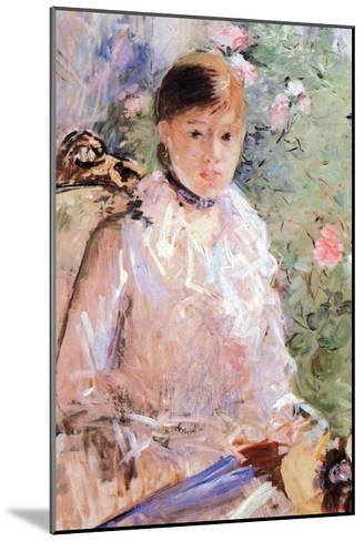 Summer (Young Woman at the Window)-Berthe Morisot-Mounted Art Print
