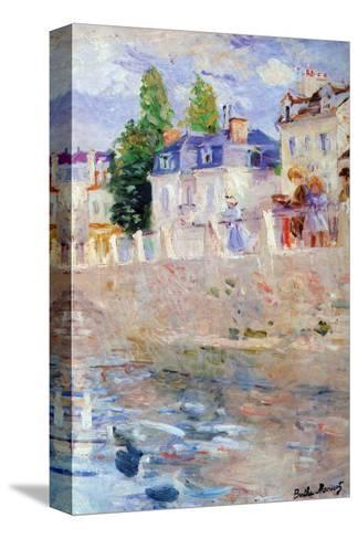 The Sky in Bougival-Berthe Morisot-Stretched Canvas Print