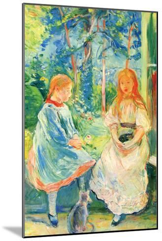 Two Girls by the Window-Berthe Morisot-Mounted Art Print