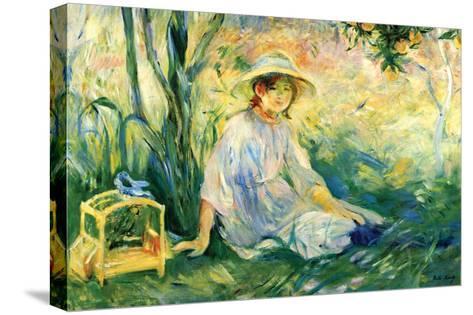 Under the Orange Tree-Berthe Morisot-Stretched Canvas Print