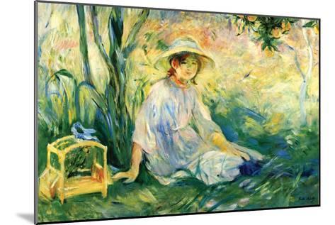 Under the Orange Tree-Berthe Morisot-Mounted Art Print
