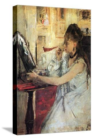 Young Woman Powdering Her Face-Berthe Morisot-Stretched Canvas Print