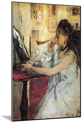Young Woman Powdering Her Face-Berthe Morisot-Mounted Art Print
