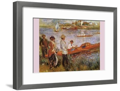 Rameurs a Chatou-Edouard Manet-Framed Art Print