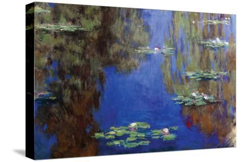 Monet - Water Lilies-Claude Monet-Stretched Canvas Print