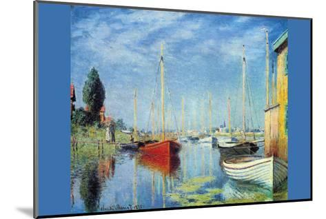 Pleasure Boats at Argenteuil-Claude Monet-Mounted Art Print