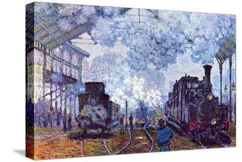 Saint Lazare Station in Paris, Arrival of a Train-Claude Monet-Stretched Canvas Print