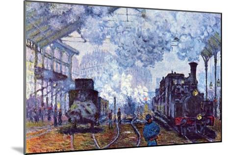 Saint Lazare Station in Paris, Arrival of a Train-Claude Monet-Mounted Art Print