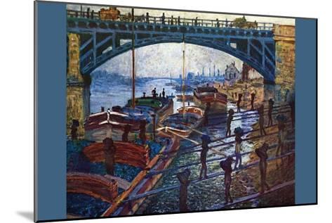 The Coal Carrier-Claude Monet-Mounted Art Print
