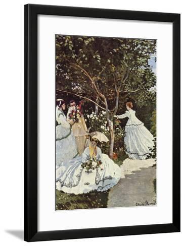 Women in the Garden-Claude Monet-Framed Art Print