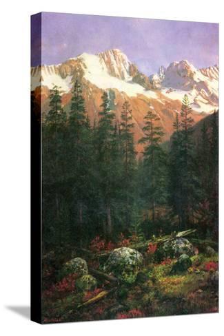 Canadian Rockies-Albert Bierstadt-Stretched Canvas Print
